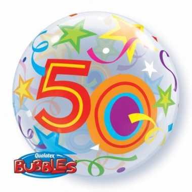 Folie ballon met helium 50 jaar