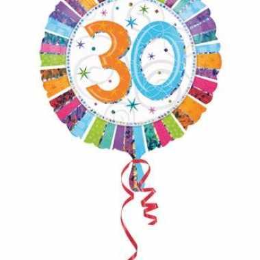 Folie ballonnen 30 jaar