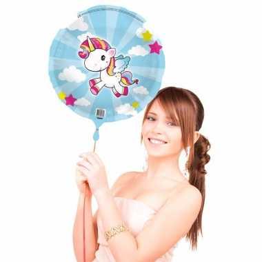 Folieballon met helium eenhoorn