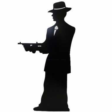 Foto bord van een gangster silhouette