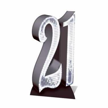 Foto bord van het cijfer 21