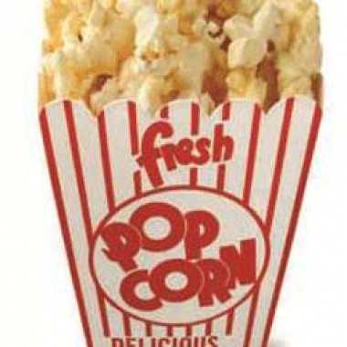 Foto bord van popcorn emmer