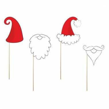 Foto props set kerstmannen en baarden