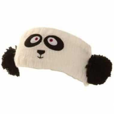 Gebreide hoofdband panda dames