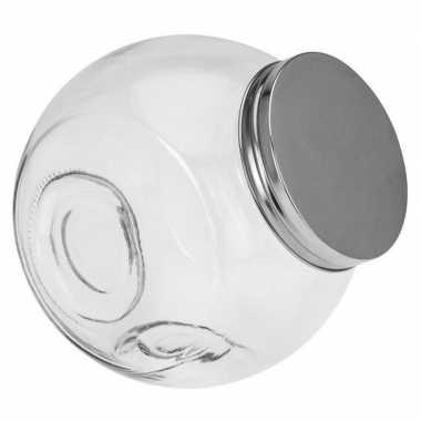 Glazen voorraadpot/snoeppot 16 cm