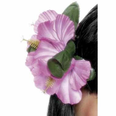 Haarbloemen hawaii roze