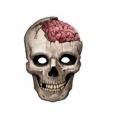 Halloween enge schedel masker van karton
