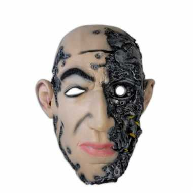 Halloween feest masker cyborg