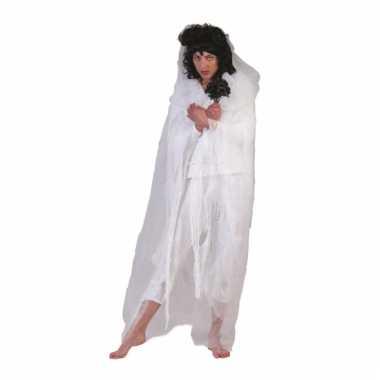 Halloween geesten cape wit