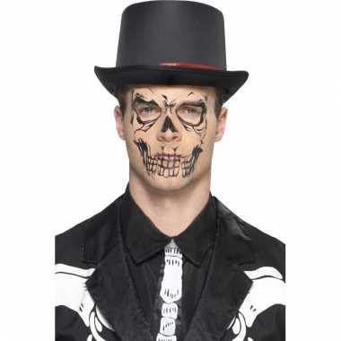 Halloween gezicht tatoeage