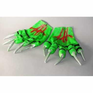 Halloween handschoenen groen
