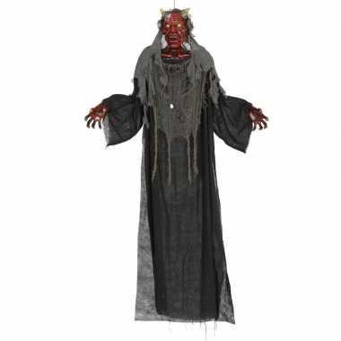 Halloween - hangende vampier pop met licht en geluid 170 cm