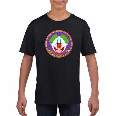 Halloween horror clown t-shirt zwart kinderen