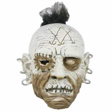 Halloween - horror wit gezicht masker met oorbellen