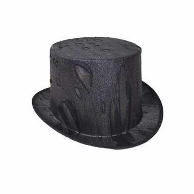 Halloween - horror zwarte hoge hoed voor volwassenen