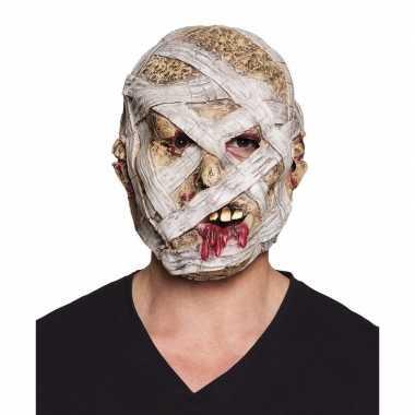 Halloween latex mummie masker voor volwassenen