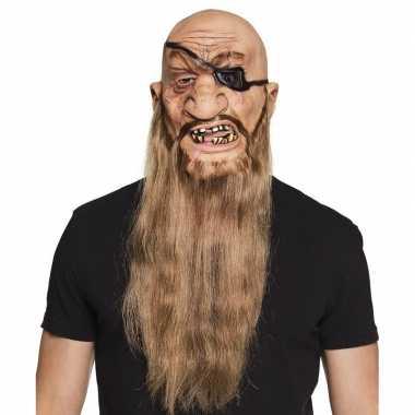 Halloween - latex piraten masker voor volwassenen