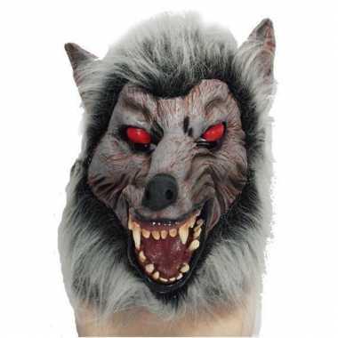 Halloween masker weerwolf met rode ogen