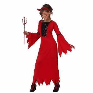 Halloween outfit rode duivel voor meisjes