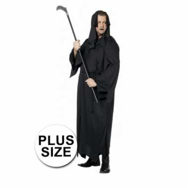 Halloween plus size kleding zwarte dood