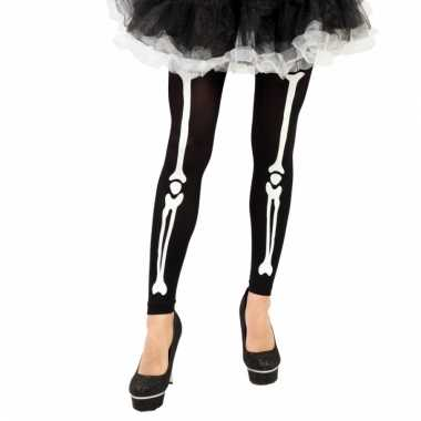 Halloween skelet legging met botten