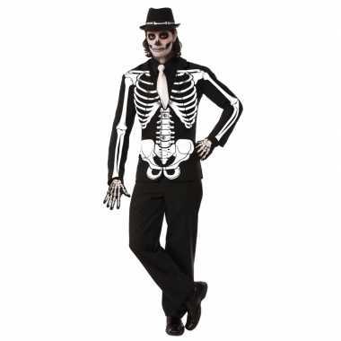 Halloween - skelet verkleed jas voor heren