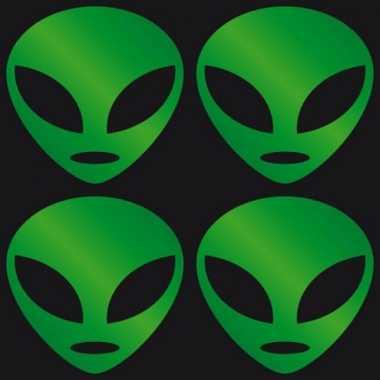 Halloween stickers groen alien