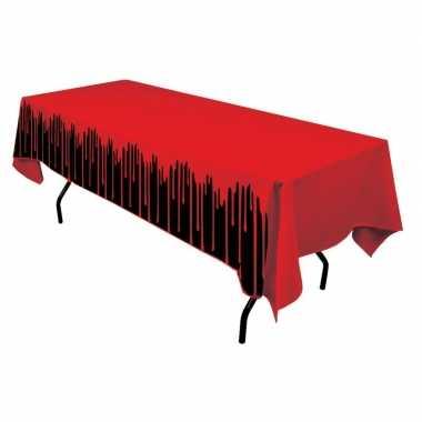 Halloween tafelkleed bloed print 137 x 274 cm