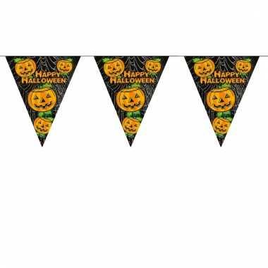 Halloween versiering vlaggenlijn pompoen