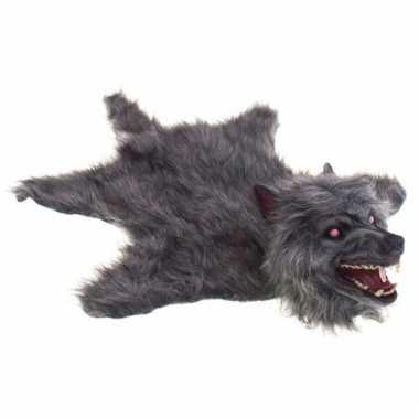 Halloween wolf vel grijs
