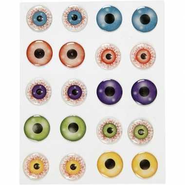 Halloween - zelfklevende gekleurde 3d hobby ogen/oogjes