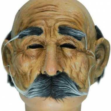 Halve oude mannen masker met snor