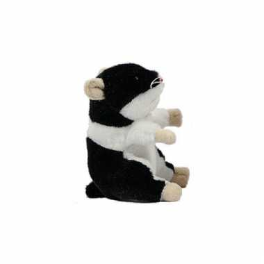 Hamsters knuffels zwart 13 cm