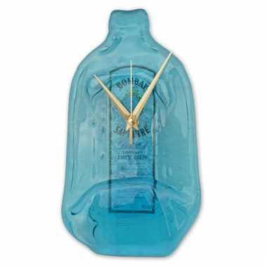 Handgemaakte bombay sapphire gin klok