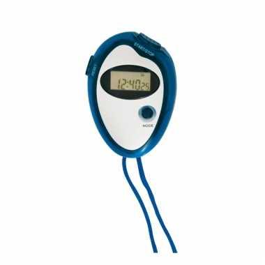 Handige sport stopwatch blauw