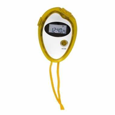 Handige sport stopwatch geel