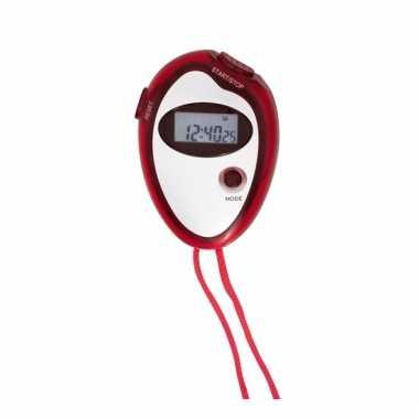 Handige sport stopwatch rood