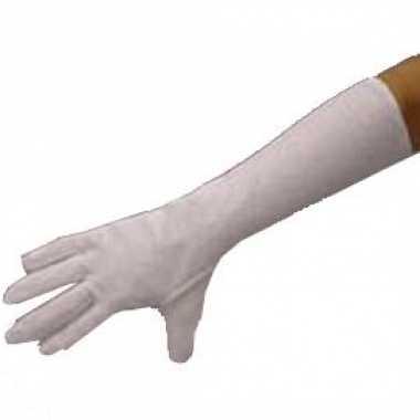 Handschoenen wit lang polyester