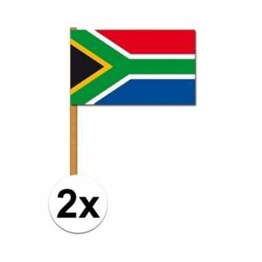Handvlaggetje zuid afrika 2x stuks