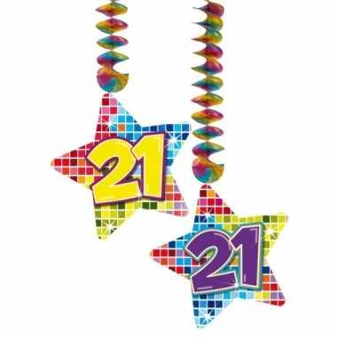 Hangdecoratie 21e verjaardag