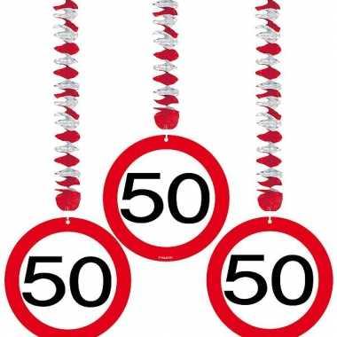 Hangdecoratie 50e verjaardag