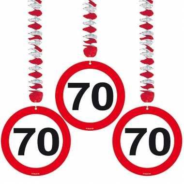 Hangdecoratie 70e verjaardag