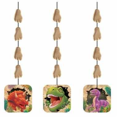 Hangende dinosaurus versiering 3 stuks