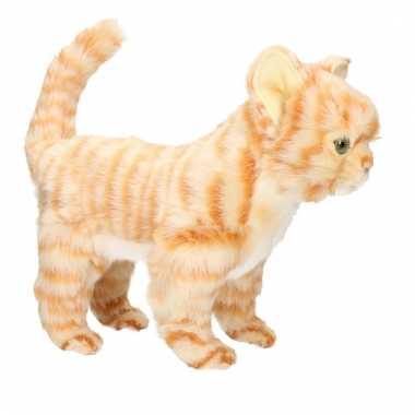 Hansa pluche rode kitten poes/kat knuffel 30 cm
