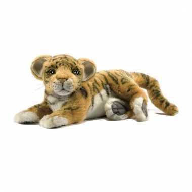 Hansa pluche tijger welp knuffel liggend 26 cm
