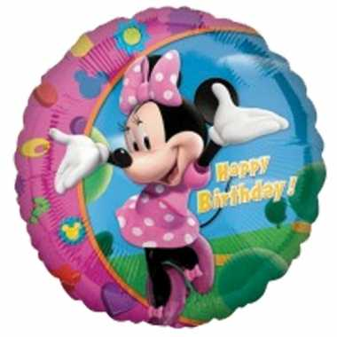 Happy birthday ballonnen minnie mouse 45 cm
