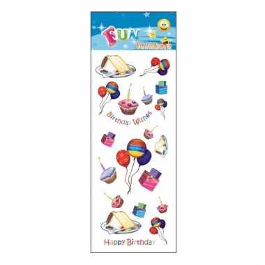 Happy birthday stickervelletje agenda