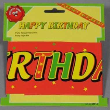 Happy birthday tape 6 meter