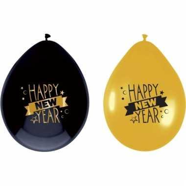 Happy new year ballonnen 6 stuks