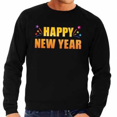 Happy new year trui/ sweater zwart voor heren